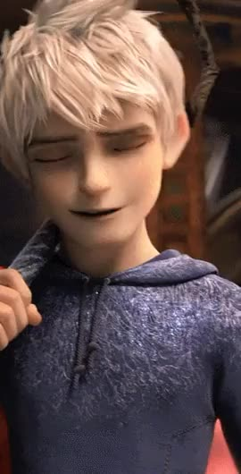 Watch different kind of love song GIF on Gfycat. Discover more Jack Frost, ROTG, Smile, Smirk GIFs on Gfycat