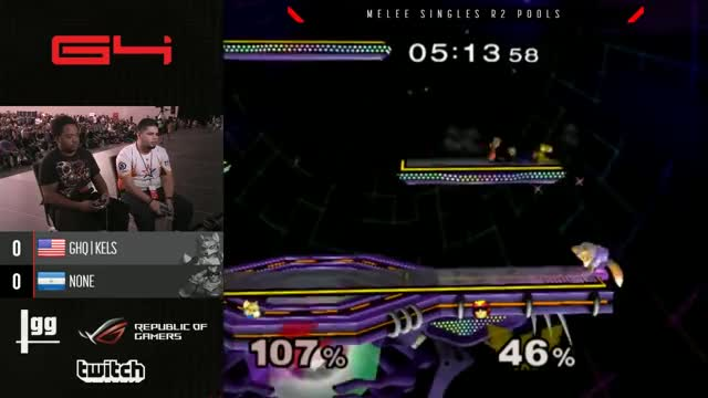 Genesis 4 SSBM - GHQ | Kels (Fox) Vs. Allegiance | n0ne (Captain Falcon) Smash Melee R2 Pools