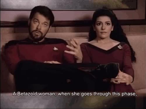 Watch and share William Riker GIFs and Deanna Troi GIFs on Gfycat