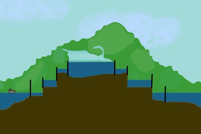 Watch and share Panama Canal Locks Animation GIFs on Gfycat