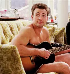 Watch this naked GIF on Gfycat. Discover more *gifs, Chris Evans, Chris with a guitar tho, Colin Shea, What's your number, on the queue to valhalla GIFs on Gfycat