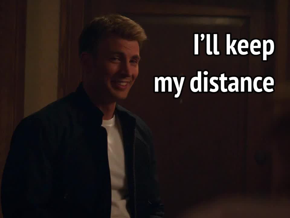celebs, chris evans, Captain America Winter Soldier - I'll keep my distance GIFs