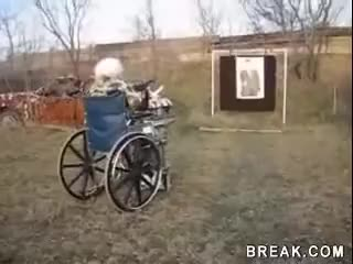 Watch and share Old Woman Shoots MP40 Machine Gun GIFs on Gfycat