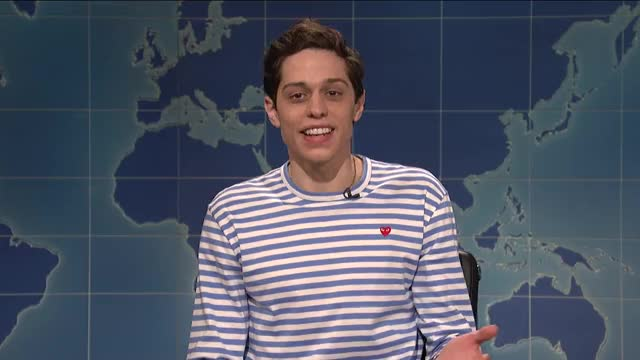 Watch this pete davidson GIF on Gfycat. Discover more Bill Hader, Colin Jost, Episode 1741, Kevin Love, Pete Davidson, SNL, SNL Season 43, Saturday Night Live, Weekend Update, bill hader, colin jost, episode 1741, kevin love, pete davidson, s43, saturday night live, snl, snl season 43, weekend update GIFs on Gfycat