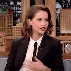 Watch and share Felicity Jones GIFs and Tv Appearances GIFs on Gfycat