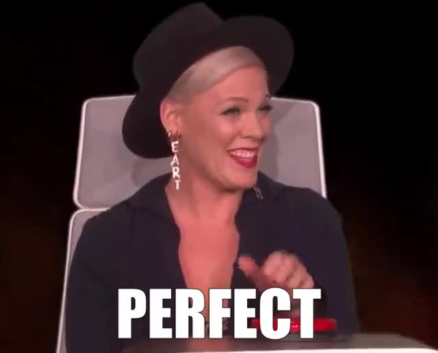 Watch this curated GIF by The GIF Farmer (@giffarmer) on Gfycat. Discover more agree, awesome, bingo, bro, burning, cool, course, deal, degeneres, ellen, happy, of, ok, p!nk, perfect, pink, questions, smile, story, totally GIFs on Gfycat