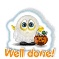 Watch and share Halloween Well Done  Animations Animation Animated Gif Gifs Happy Halloween Smiley Smilie Smileys Smilies GIFs on Gfycat
