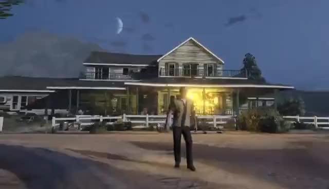 Watch and share GTA V Trevor - Farm House Explosion GIFs on Gfycat