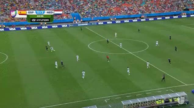 Van Persie's Magnificent header vs  Spain (reddit) GIF by