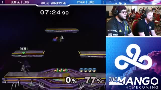 The Mango Homecoming - DIG | Lucky (Fox) VS Tyrant | Logos (Falco) - SSBM - Pools - Winners Semis