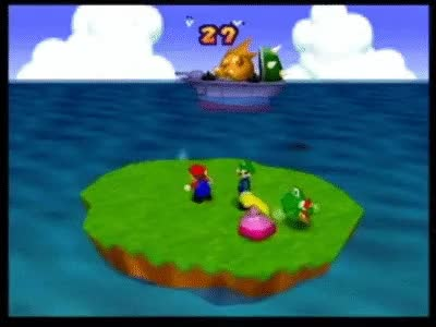 Watch and share Mario Party 2: 4 Player Minigame - Bombs Away GIFs on Gfycat