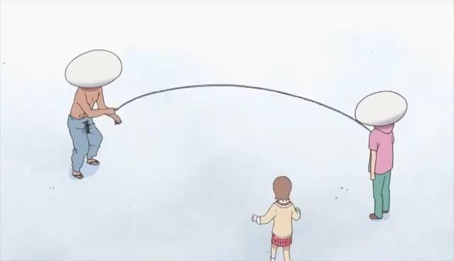 Watch and share Nichijou - Yuuko's Jump Rope Scene GIFs on Gfycat