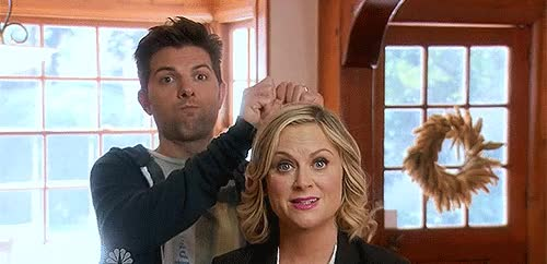 Watch and share Amy Poehler GIFs and Adam Scott GIFs by Reactions on Gfycat