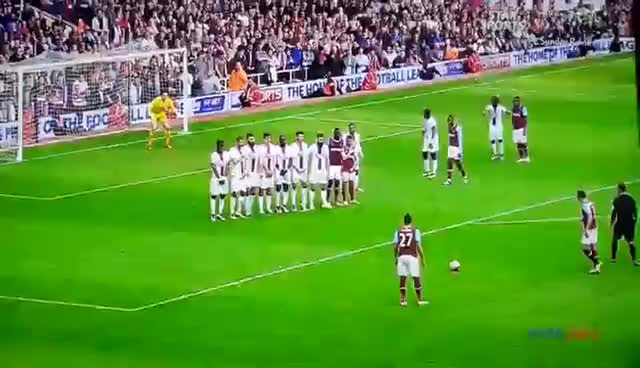 Dimitri Payet freekick vs Crystal Palace 2016