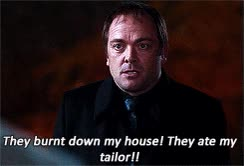 """Watch and share Emmajane-spn: """" Favorite Supernatural Characters Meme - Crowley """" GIFs on Gfycat"""