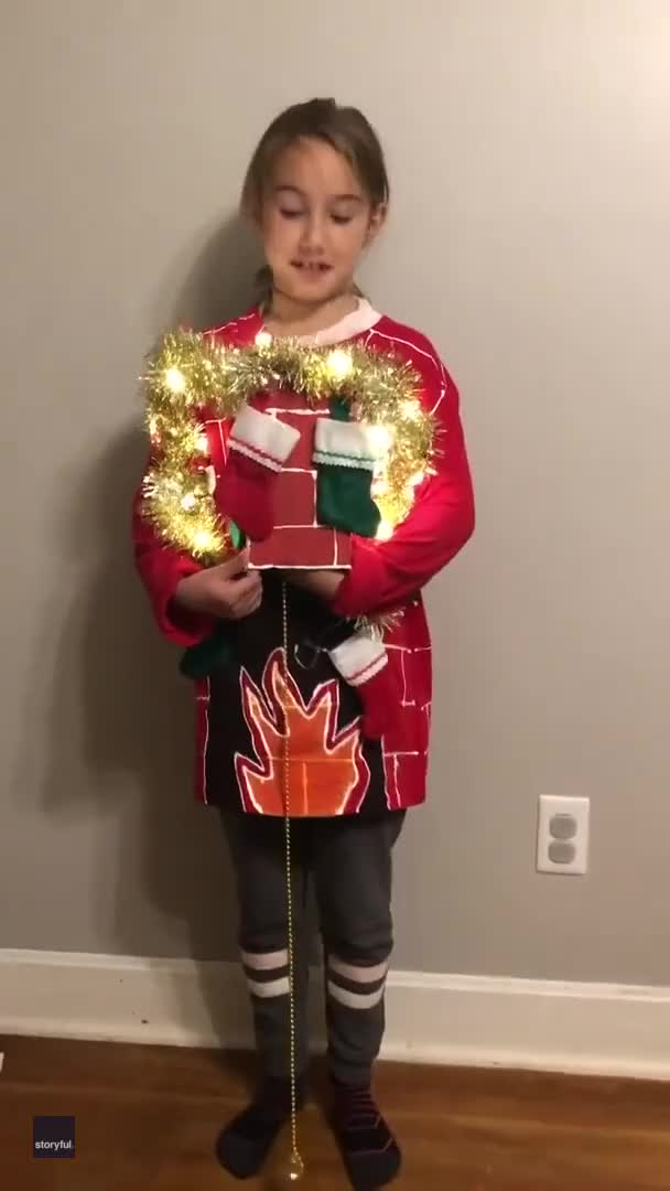 Watch and share Virginia Mom Nails It For Lucky Daughter's Christmas Sweater Competition GIFs by GIFs For Everything on Gfycat