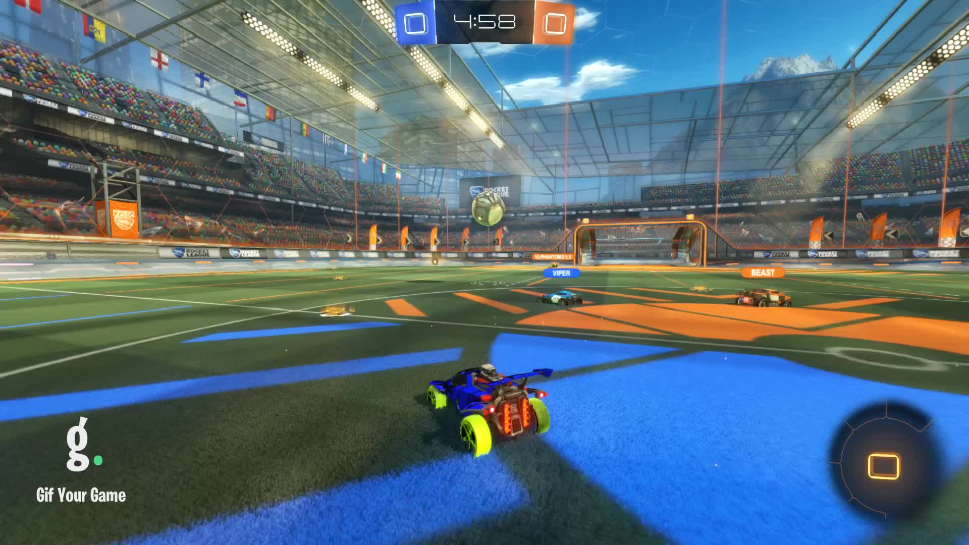 Gif Your Game, GifYourGame, Goal, Rocket League, RocketLeague, venomspire, Goal 1: venomspire GIFs