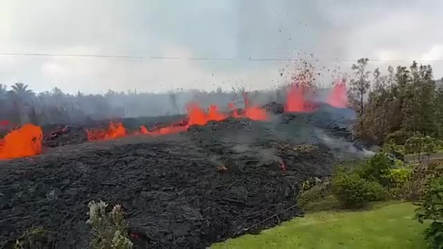 Watch and share The Front Yard Is Lava - Hawaii May-2018 GIFs by heun3344 on Gfycat