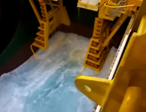 Watch and share Offshore Storm By The Moonpool Up In The Arctic GIFs on Gfycat