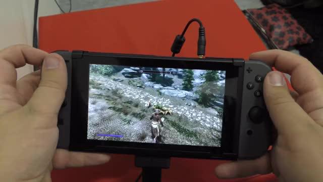 Skyrim Nintendo Switch Gameplay (Gamescom)