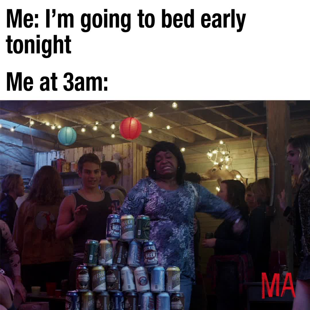 funny, ma, ma movie, meme, octavia spencer, party, MA Going To Bed Early Meme GIFs