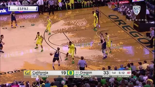 Watch and share Pac-12 Network - This Block By Chris Boucher Was Straight Up Disrespectful😳😳😳  #Pac12Hoops GIFs by catracho on Gfycat