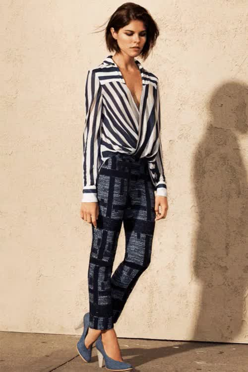 Watch 10 CROSBY DEREK LAM SPRING 2013 GIF on Gfycat. Discover more 10 Crosby Derek Lam, Derek Lam, Emily Weiss, FashGif, Fashion, Fashion Gif, Gif, Into The Gloss, Spring 2013, Striped Blouse, Striped Pants, Striped Trousers, Stripes GIFs on Gfycat