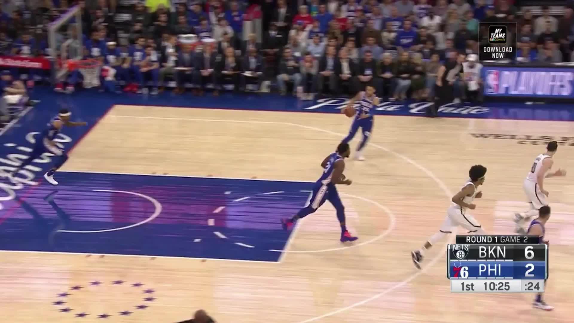 Ben Simmons, Brooklyn Nets, NBA, Philadelphia 76ers, basketball, Ben Simmons Transition drive-Nets no Dudley GIFs