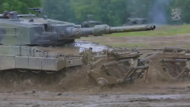 Watch and share Leopard 2A4 With Mine Rollers GIFs by tehroot on Gfycat