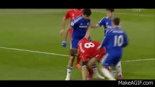 Watch and share Diego Costa Dirty Stomp On Emre Cans' Leg (Gerrard & Skrtel) - Chelsea Vs Liverpool 2015 HD GIFs on Gfycat