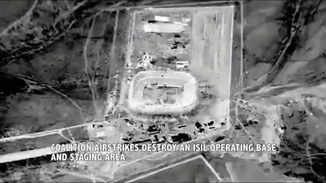 Watch Strike on ISIS staging area in a stadium. (reddit) GIF by @forte3 on Gfycat. Discover more Airstrike, airstrike GIFs on Gfycat