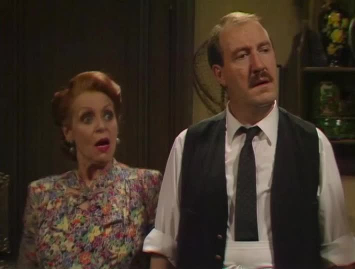 allo allo, gloat, gloating, gordon kaye, laughter, reaction, schadenfreude, shocked, allo allo - shocked and laughter GIFs