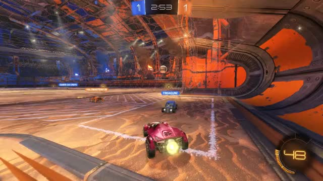 Watch Teamwork! GIF by Gif Your Game (@gifyourgame) on Gfycat. Discover more Gif Your Game, GifYourGame, Goal, Rocket League, RocketLeague, Sideswipe GIFs on Gfycat