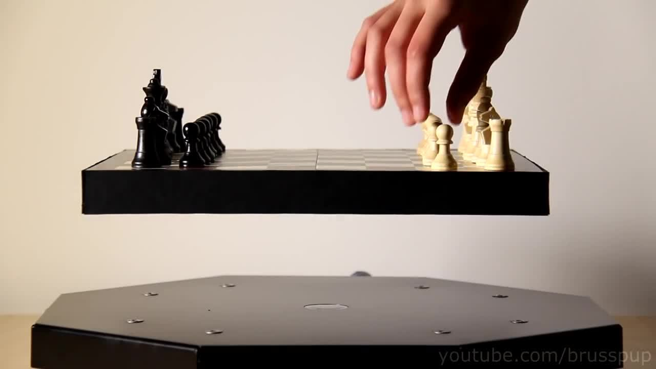 chess, gifs, levitation, magnetic, Magnetic Hover Chess! GIFs