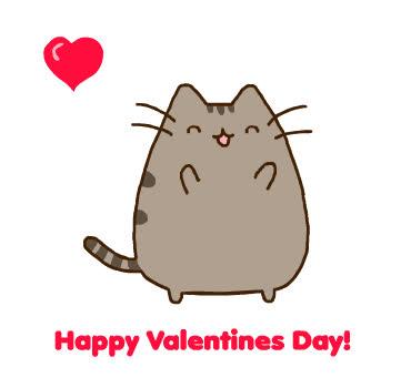 cat, cats, happy valentines day, pusheen, pusheen cat, pusheen the cat, valentines day,  GIFs