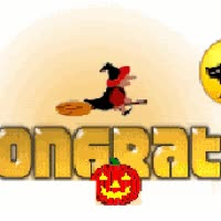 Watch and share Congrats Halloween Congratulations Happy Mummy Pumpkin Witch Black Cat Full Moon Animated Animation Animations Smiley Smilie Smileys Smilies GIFs on Gfycat
