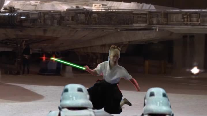 gifextra, girl, starwars, Jedi Girl GIFs