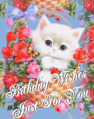 Happy Birthday Wishes Animated Cards For Gf GIF