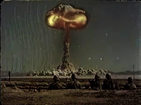 Watch and share Slo-mo Shockwave (gunpowder Set-up)A-Bomb Blast Effects (1959)  GIFs on Gfycat