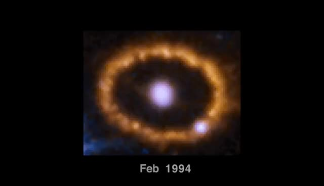 Watch Hubble Chronicles Brightening of Ring around Supernova 1987A GIF on Gfycat. Discover more related GIFs on Gfycat