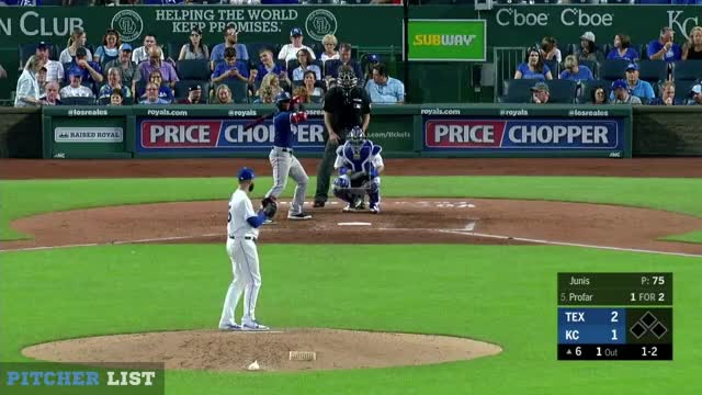 Watch Jakob Junis SL 6-20-18 GIF on Gfycat. Discover more Texas Rangers, baseball GIFs on Gfycat