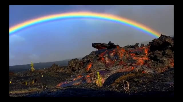 Watch and share Lava Flowing In Front Of A Rainbow GIFs on Gfycat