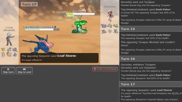 Pokemon Ultra Sun and Moon Showdown Live #7 w/BTB,DenisTheMenace,Suapah,Ultraballz