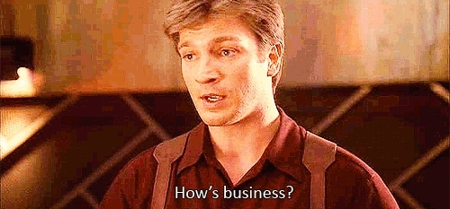 firefly, morena baccarin, nathan fillion, firefly hows business GIFs