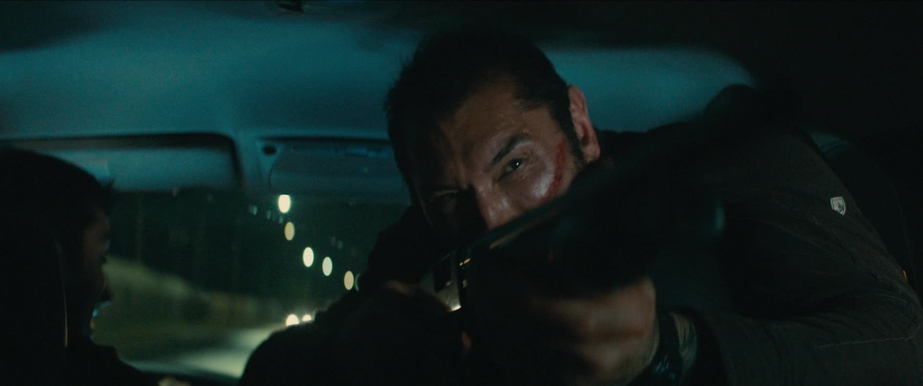 dave bautista, explosion, kumail nanjiani, omg, stuber, stuber movie, suprise, surprise, wow, Car Explosion Wow GIFs