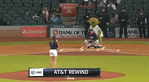 Watch and share Astros Fan First Pitch GIFs on Gfycat
