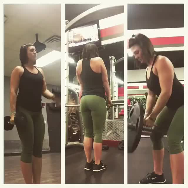 ally of mine working out. Strong, powerful body.