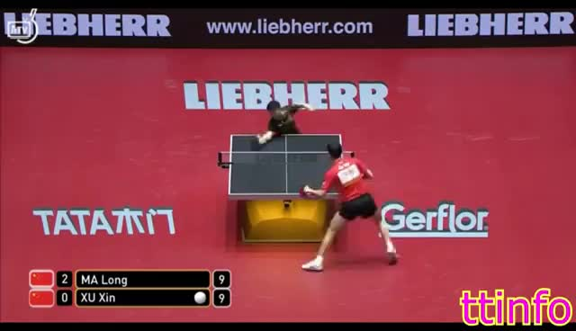 MA Long VS XU Xin (WTTC 2017) 1/2 GIFs