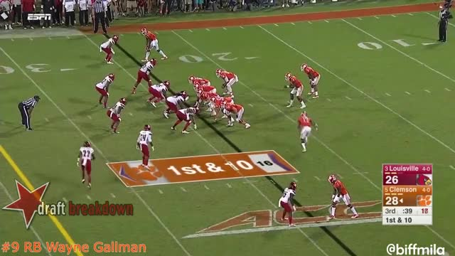 Watch and share Wayne Gallman GIFs and Draft Sharks GIFs on Gfycat