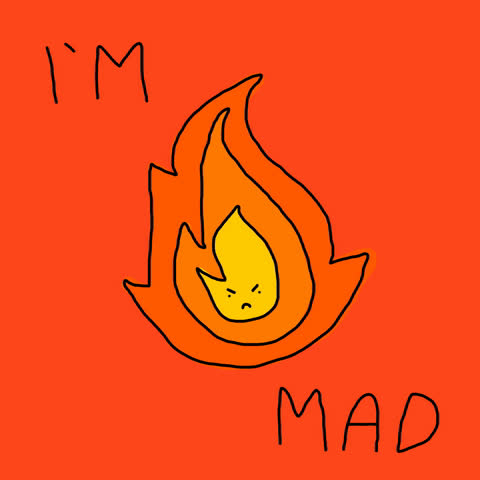 angry, burn it down, fire, flame, furious, mad, rage, stickfiguregirl, I'm Mad GIFs